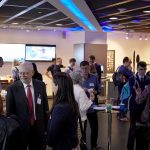 The reception following the OxIS 2019 launch, held at BT Centre